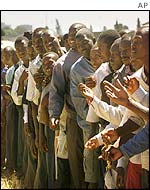 Queue of voters