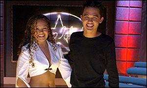 Pop Idol finalists Zoe Birkett and Gareth Gates