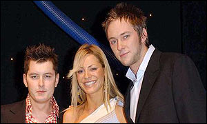 Brian Dowling, Tess Daly and James Redmond