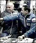 Dennis Tito (left), the first paying space tourist, BBC