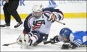 The USA ice sledge hockey team continue their dominance, brushing past Estonia