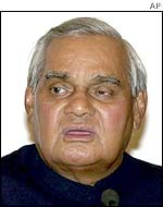 The Indian Prime Minister, Atal Behari Vajpayee