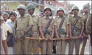 Security forces at Ayodhya
