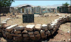 Mass grave for 25 of the victims at Halabja
