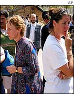 Members of the congregation outside the church
