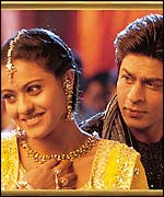 Kajol and Shahrukh Khan