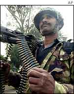 Pakistani soldier at the border
