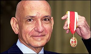 Sir Ben Kingsley collecting his knighthood