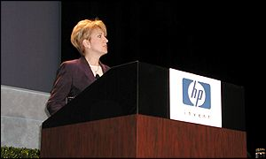 Hewlett Packard chief executive Carly Fiorina