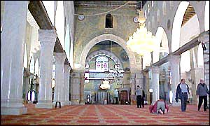 Interior of al-Aqsa Mosque