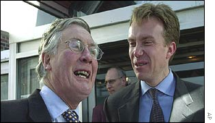 Environment Minister Michael Meacher and his Norwegian counterpart Boerge Brende
