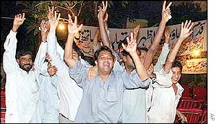 Many Pakistanis celebrated General Musharraf's takeover