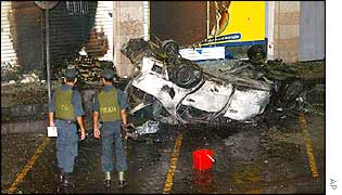 Car wreckage