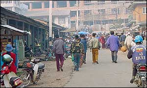 Rangoon street scene, March 2002