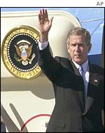 President Bush arrives in Monterrey