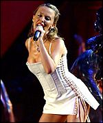 Kylie Minogue's Brits performance grabbed headlines in 2002