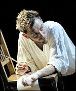 Actor Jude Law in a Natural Nylon production of Dr Faustus