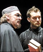 David Fielder (left) plays a variety of roles including Lucifer (Photo by Keith Patterson)