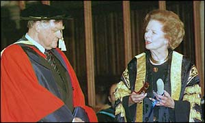 Sir Bernard received an honorary degree in 1997