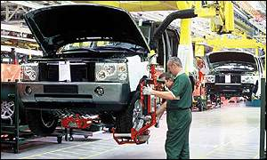 Range Rover production line in Solihull