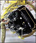 Range Rover assembly line at Solihull