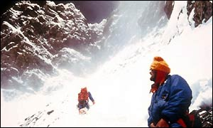 Chris Bonington and Doug Scott on Everest expedition