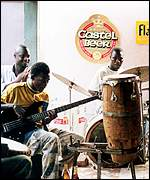 Musicians jamming in Mali
