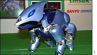 Robot guard dog T7S Type 2 developed by Sanyo
