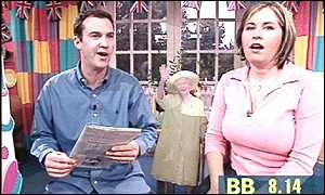 Johnny Vaughan and Liza Tarbuck