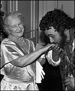 The Queen Mother with Pavarotti