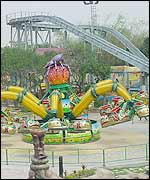 The theme park has a number of thrilling rides