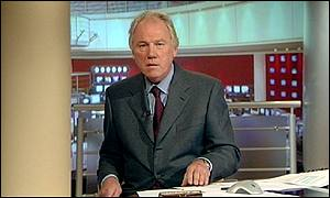 Peter Sissons has been criticised for his burgundy tie