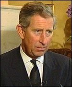 Prince Charles' tribute was recorded by ITN