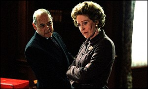 Patricia Hewitt as Margaret Thatcher