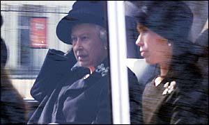 Queen Elizabeth and Lady Sarah Chatto