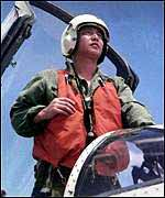 Wang Wei, the Chinese fighter pilot who died in a mid-air collision with a US spy-plane, 1 April 2001