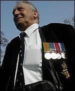 Man with medals