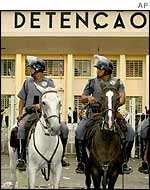 Brazilian mounted police