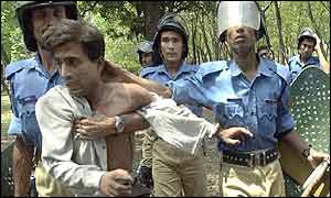 Police arrest an Awami League activist