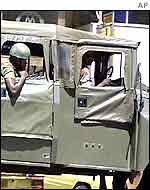 Army patrol in Harare
