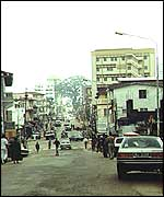 A street of the capital of Sierra Leone