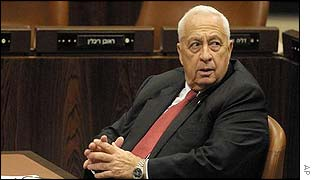 Israeli Prime Minister Ariel Sharon - in the Israeli parliament 15 May 2002