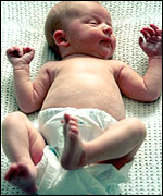 Baby in correct sleeping position (BBC)