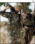 Indian troops in Kashmir