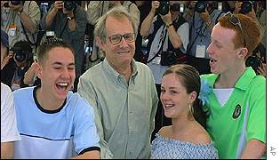 Martin Compston, Ken Loach, Anne-Marie Fulton, and William Ruane