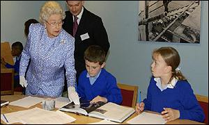 The Queen views the Education Room