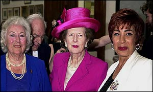 Dame Vera Lynn, Baroness Thatcher and Dame Shirley Bassey