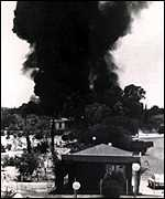 A Turkish air strike on Cyprus in 1974