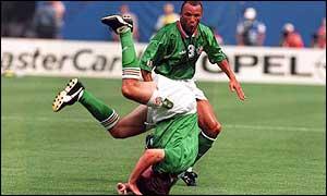 houghton celebrates after scoring vs italy