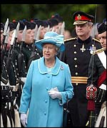 The Queen at the traditional ceremony of the keys at Holyroodhouse
